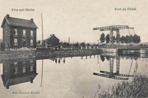 Le pont du Canal à Ville-sur-Haine